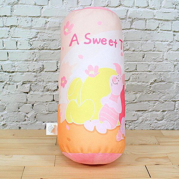小熊維尼 圓筒抱枕 迪士尼【蕾寶】Disney 正版授權 維尼午安櫻花 小圓筒抱枕