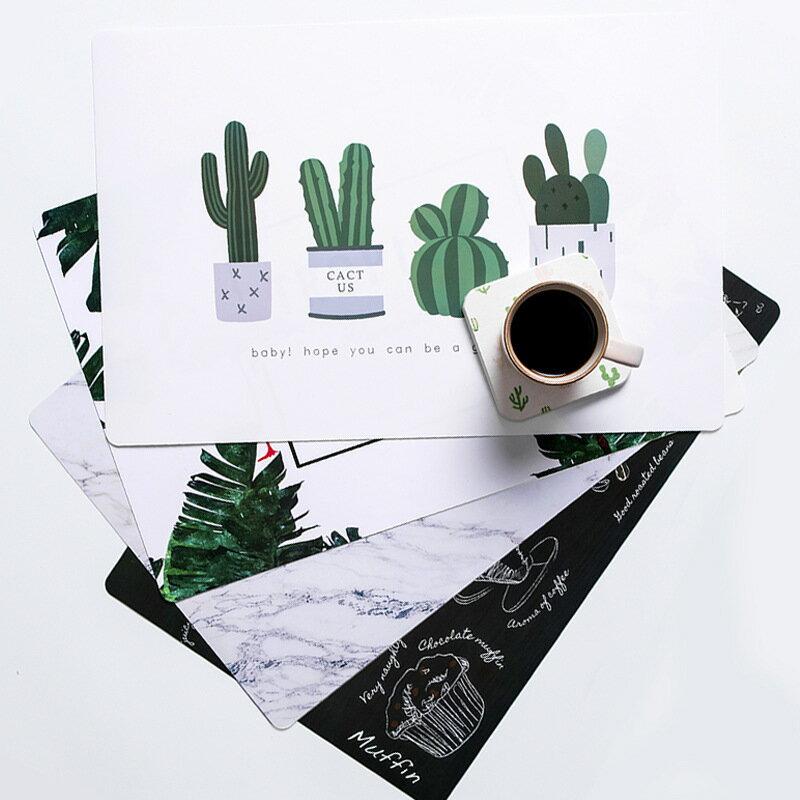台灣現貨★北歐風 防水餐墊 桌墊 抗髒污 耐磨 耐用 PVC餐墊 隔熱墊 塑膠西餐墊 防滑墊