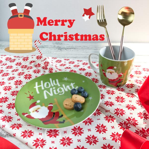 Alice餐廚好物:限量聖誕快樂杯盤禮盒組|現貨|交換禮物|杯+盤禮盒|