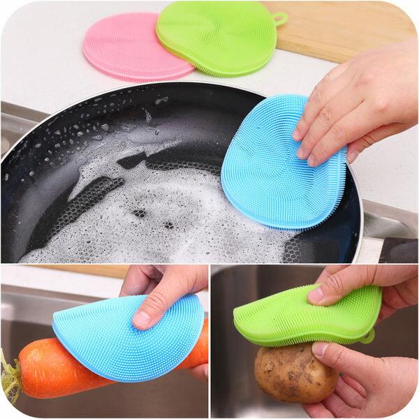 PS Mall 最新反覆使用矽膠洗碗墊 取代菜瓜布海綿媽媽最愛 隔熱墊【J1402】