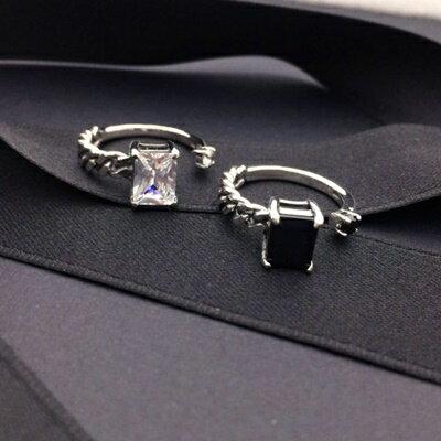 925純銀戒指鑲鑽銀飾~簡約優雅大方閃耀生日情人節 女飾品2色73ic32~ ~~米蘭 ~