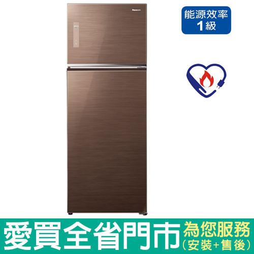 Panasonic國際485L雙門變頻冰箱NR-B487TG-T含配送到府+標準安裝【愛買】