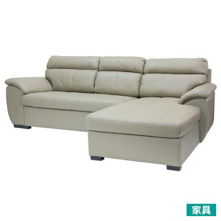 ◎半皮左躺椅L型沙發CAPUCCINOBENITORI宜得利家居