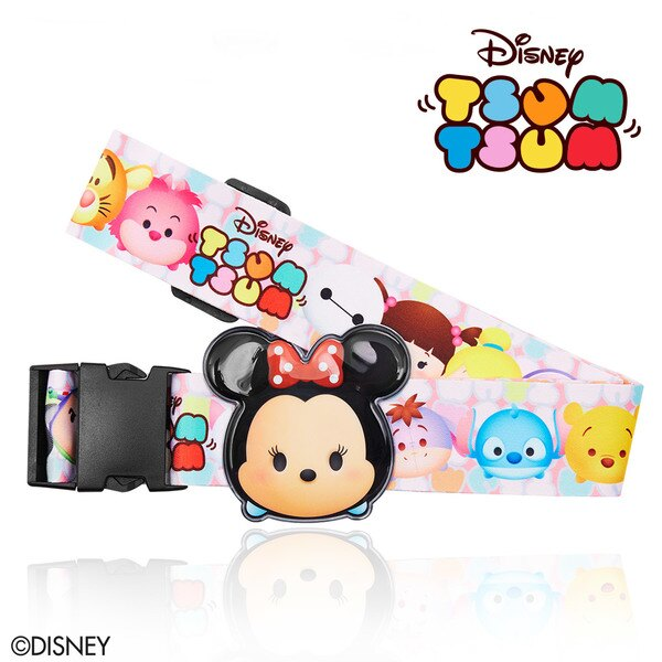 【加賀皮件】DESENO Disney 迪士尼 TSUMTSUM 可愛 造型 立體名牌束帶 行李箱綁帶 米妮 B1135-0007