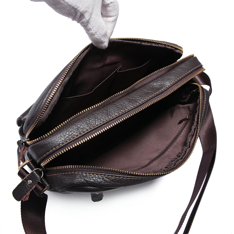 【BEIBAOBAO】韓版質感真皮側背包(共兩色  時尚黑) 8