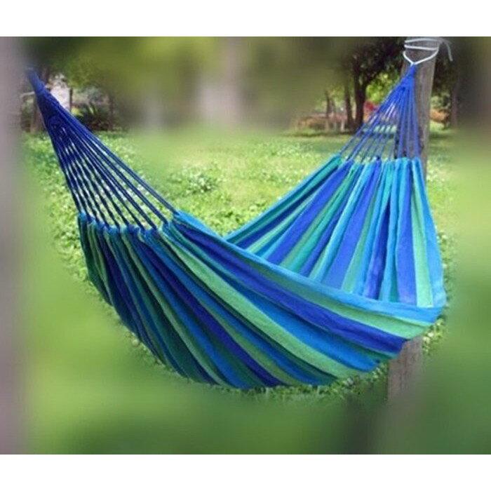 【單人帆布吊床】 戶外露營 鞦韆 戶外用品/含收納袋 2米綁繩