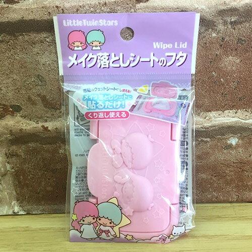 【真愛日本】17071300031 迷你濕紙巾蓋-立體雙子星 三麗鷗 kikilala 雙子星 濕紙巾黏貼蓋