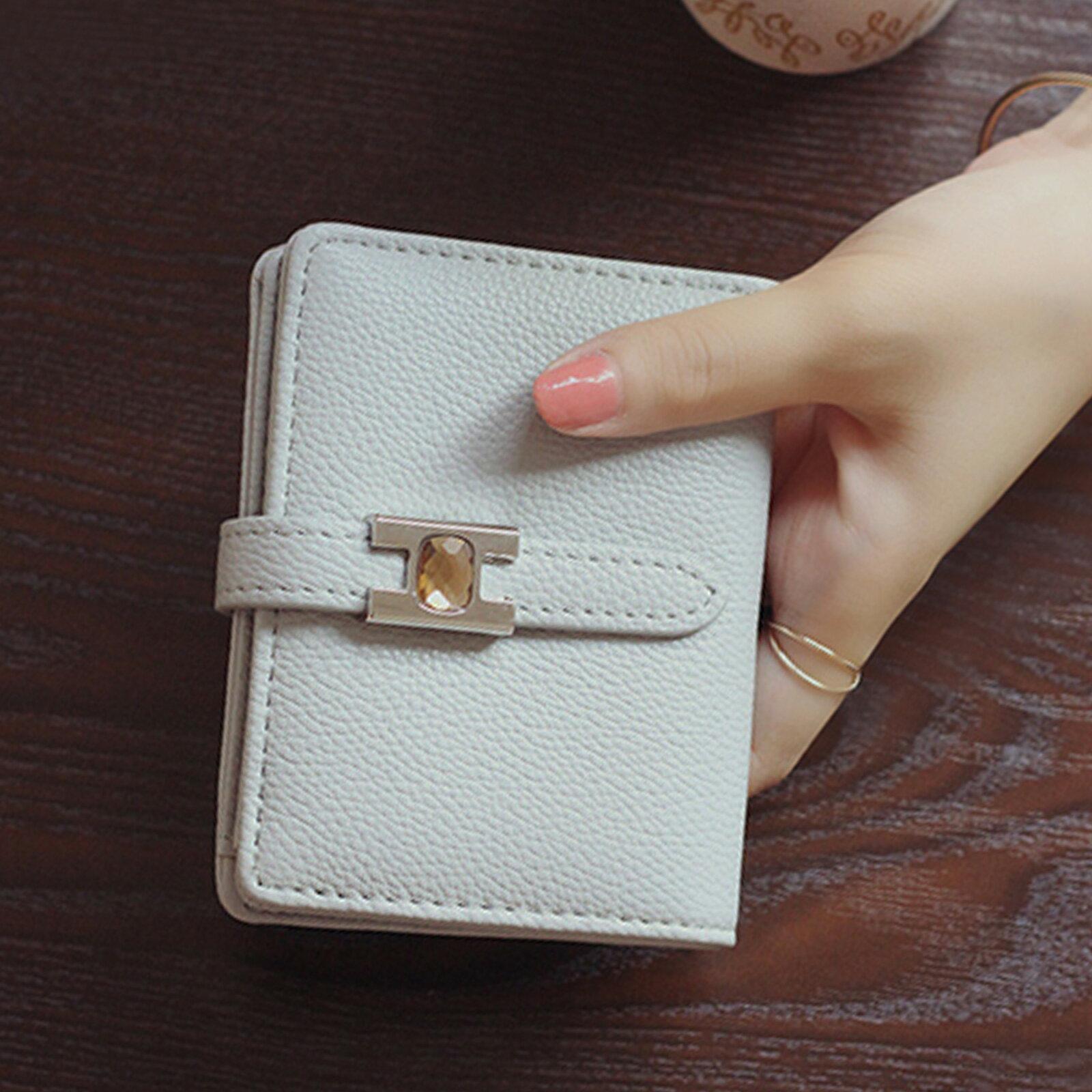 皮夾 錢包 超薄扣式短款錢包短夾【O3219】☆雙兒網☆