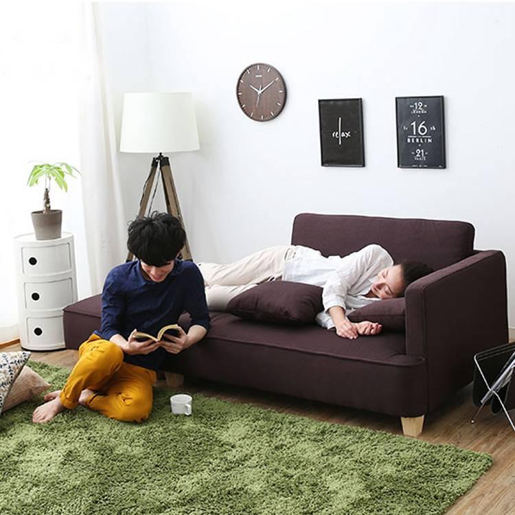 【限時結帳領券現折30】小戶型雙人轉角l型貴妃 北歐布藝沙發 日式現代客廳簡易沙發