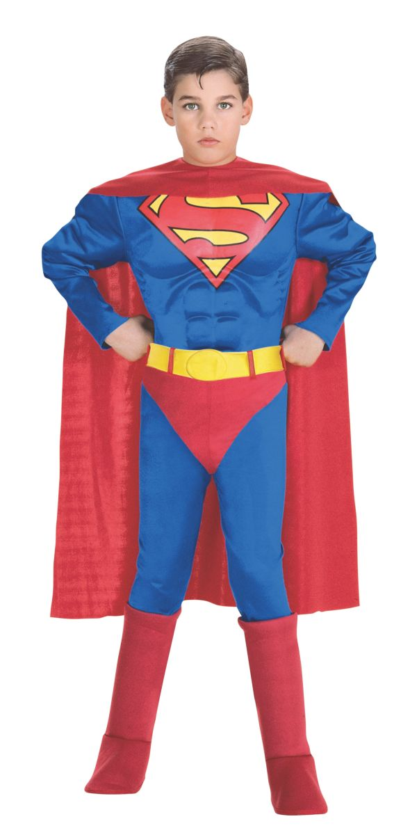 Rubies Super DC Heroes Deluxe Muscle Chest Superman Costume, Toddler 0