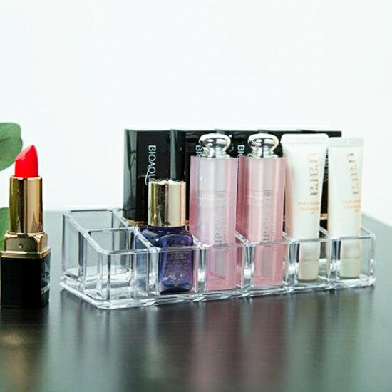?MY COLOR?無印風格系列-12格口紅收納盒 壓克力 化妝品 透明 化妝盒 桌面 整理盒 梳妝台 【P269】