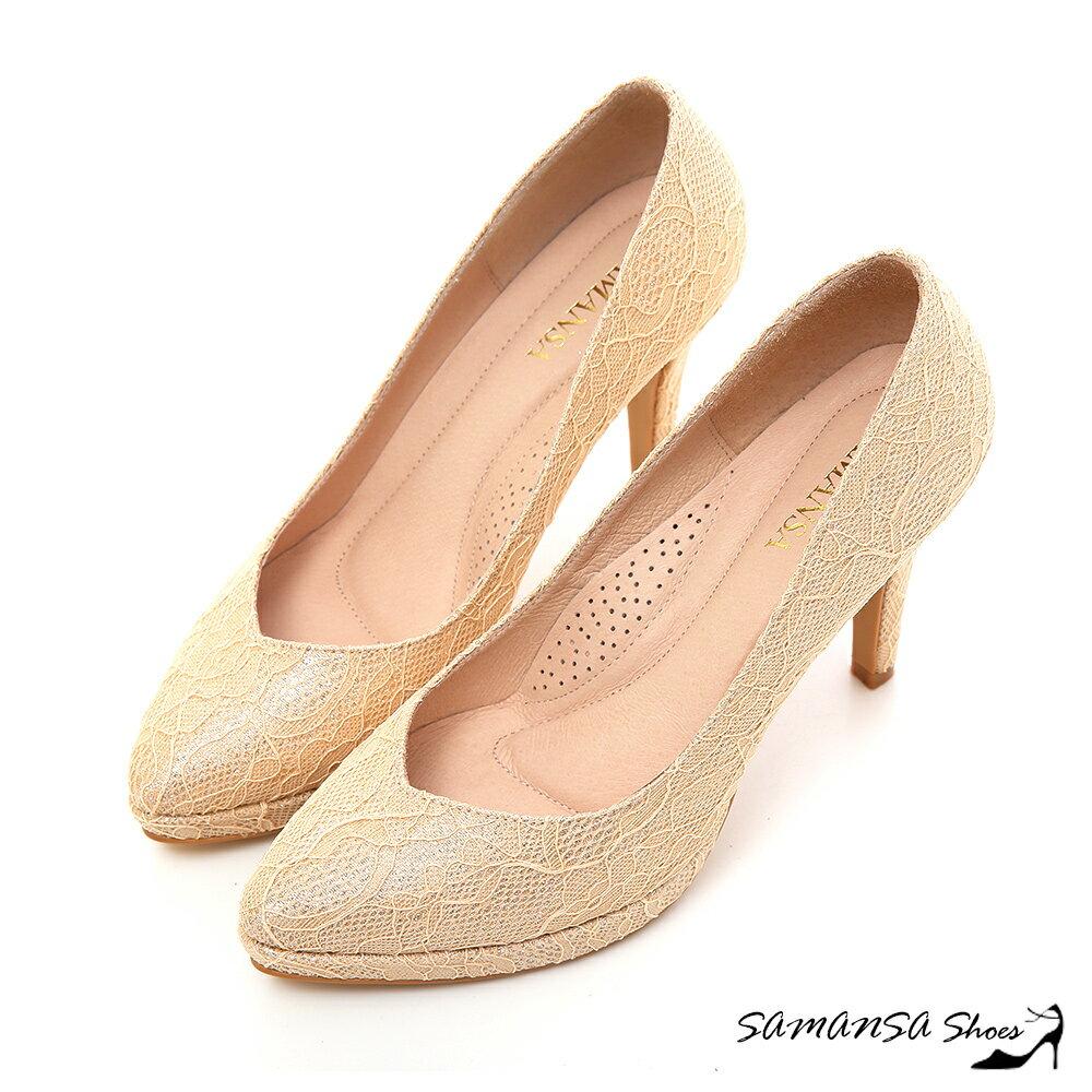~MIT溫暖手作~ Yes I Do~金蔥閃耀夢幻蕾絲幸福婚鞋 ~SAMANSA~~151