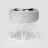 SPUTNIK 寵物碗架 Cozy Cement Bowl - 白水泥+白架(M1) Pet's Talk 1