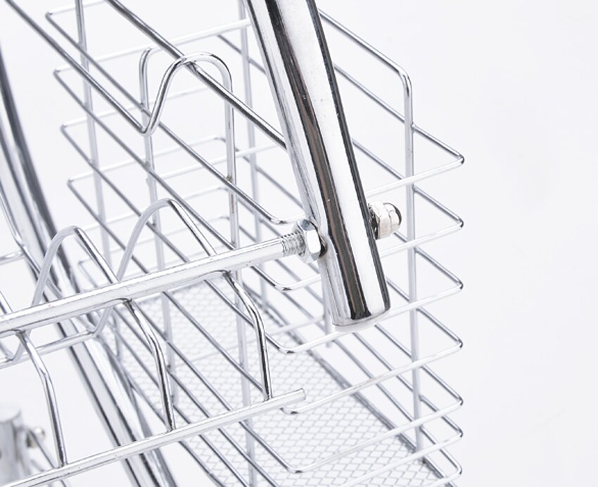 2 Tiers Kitchen Dish Cup Drying Rack Drainer Dryer Tray Cutlery Holder Organizer 6