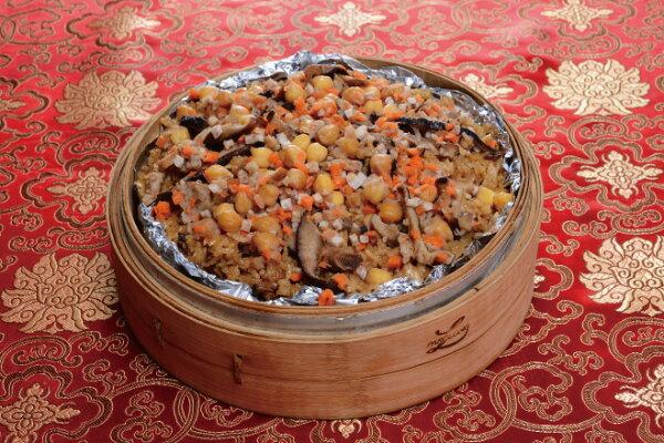 【奇美年菜系列】素食香菇米糕+紅豆紫米甜湯