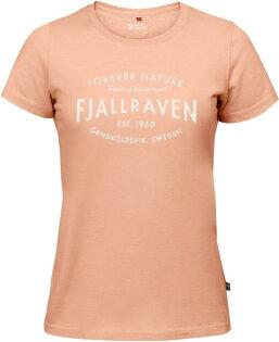 Fjallraven小狐狸有-機棉短袖T恤棉T旅遊EST.1960T-Shirt女89979308品牌創立百合橘