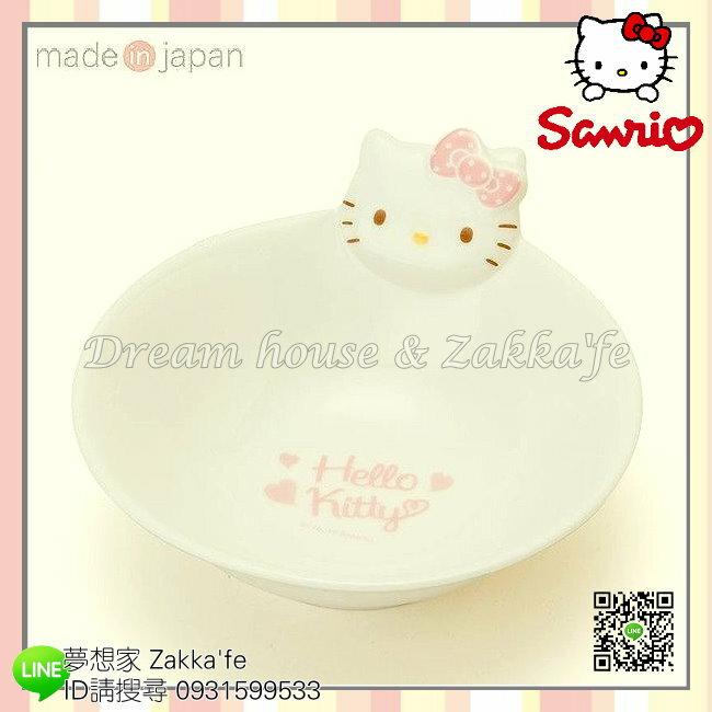日本美濃燒 sanrio 三麗鷗 Hello Kitty 陶瓷 飯碗/茶碗《 日本製造 》★ 夢想家精品生活家飾 ★