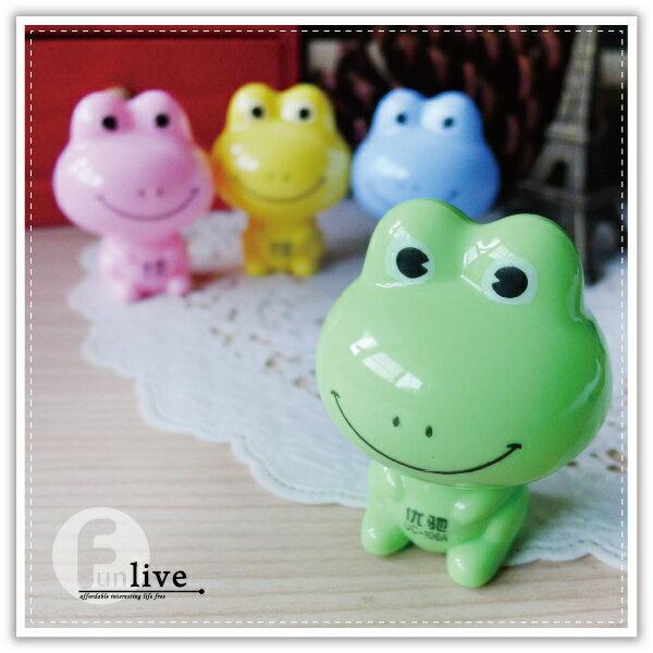 【aife life】青蛙削鉛筆機/可愛造型 療癒小物 簡易型削鉛筆器/色鉛筆/木頭鉛筆/辦公文具用品/贈品禮品
