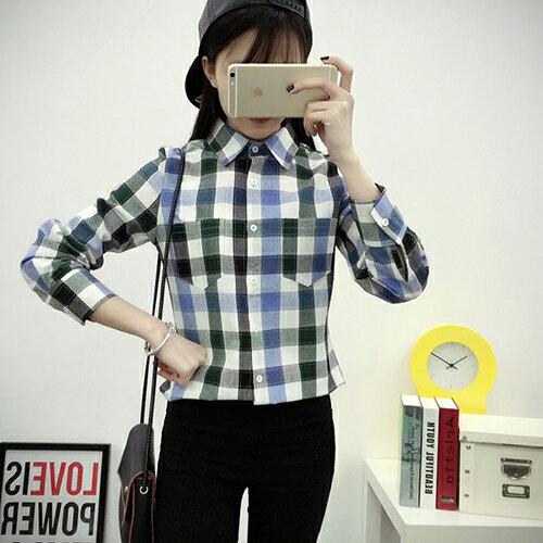 休閒經典百搭格子襯衫 (5色,M~2XL)【OREAD】 2