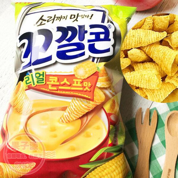 韓國LOTTE烘焙玉米脆角(玉米濃湯味)牛角餅乾[KR450]