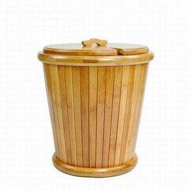 【竹制茶桶-排水式茶盤-直徑27*高30cm-1套/組】茶道茶具配件竹制茶具茶桶 茶葉垃圾桶 茶水桶茶渣桶 茶桶-7501015