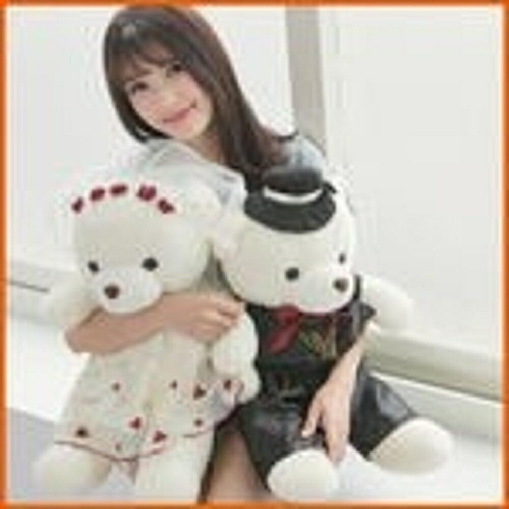【Love Shop】40cm繡花婚紗熊1對/情侶熊/男女結婚熊婚慶/壓床娃娃車頭結婚情人節禮物另有泰迪熊