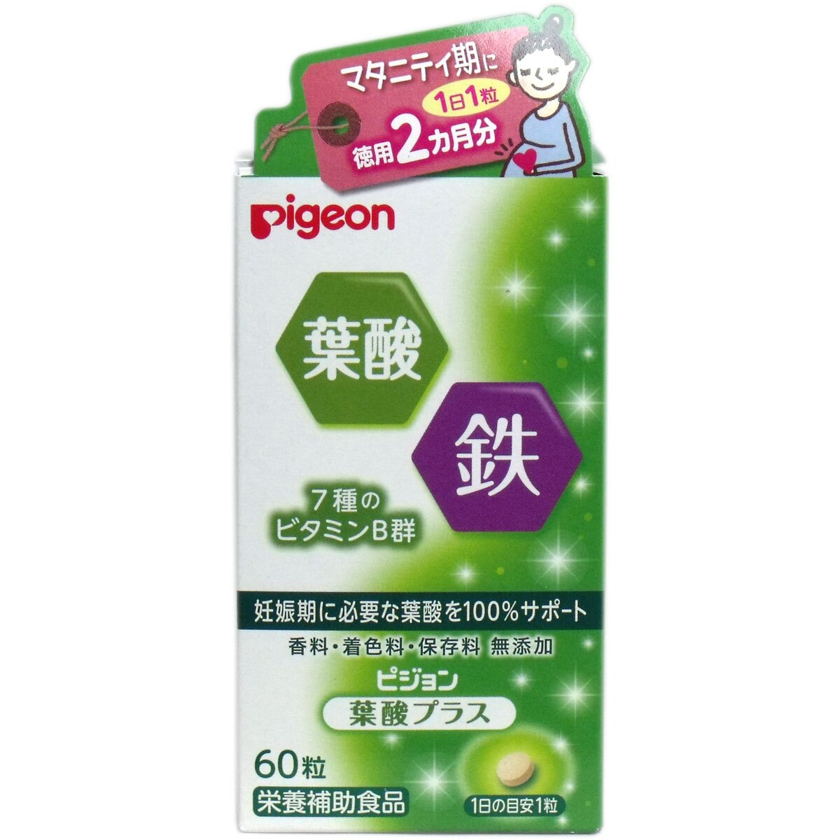 日本pigeon 貝親 葉酸 加鐵維他命B群 60日份
