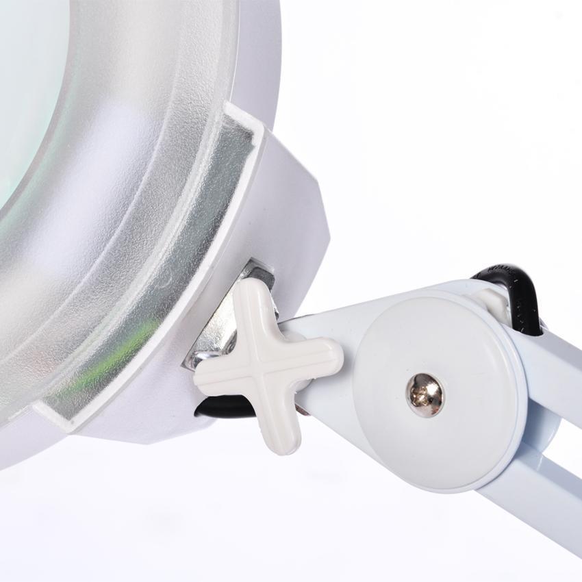 8X Desk Table Clamp Mount Rolling Adjustable Magnifier Lamp Light Magnifying Glass Len 110V US Plug 2