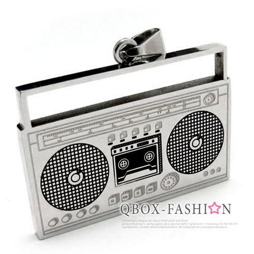 《 QBOX 》FASHION 飾品【W10012685】精緻個性音響撥放器316L鈦鋼墬子項鍊