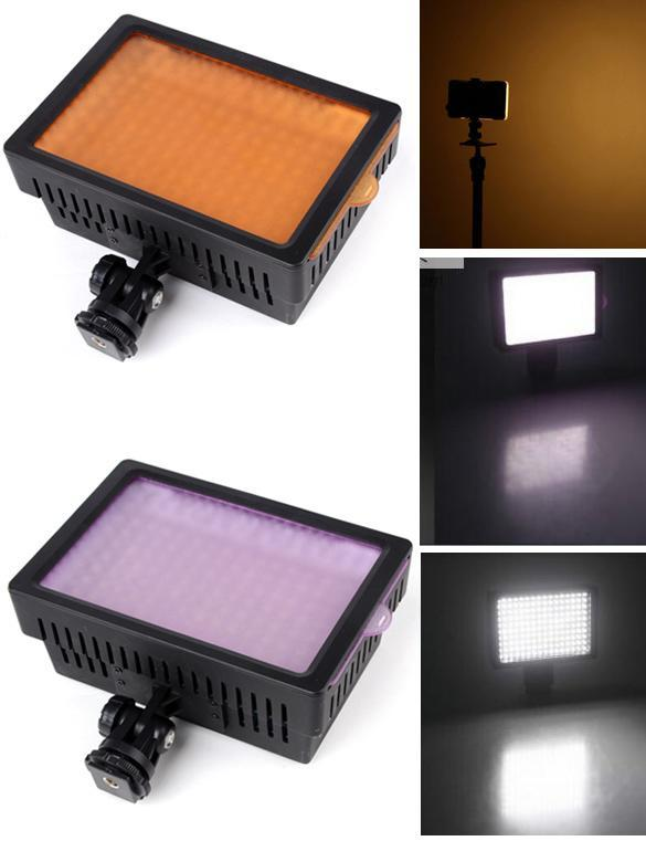 160 LED Video Light 9.6W Dimmable for Canon Nikon DSLR Camera Camcorder 5