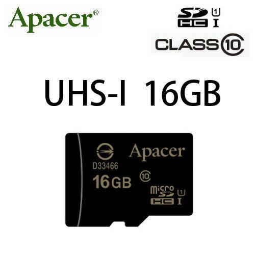【USH-I】APACER MicroSD 16G/TF 16G/Micro SDHC/TF 16GB ~宇瞻終身保固~Class 10