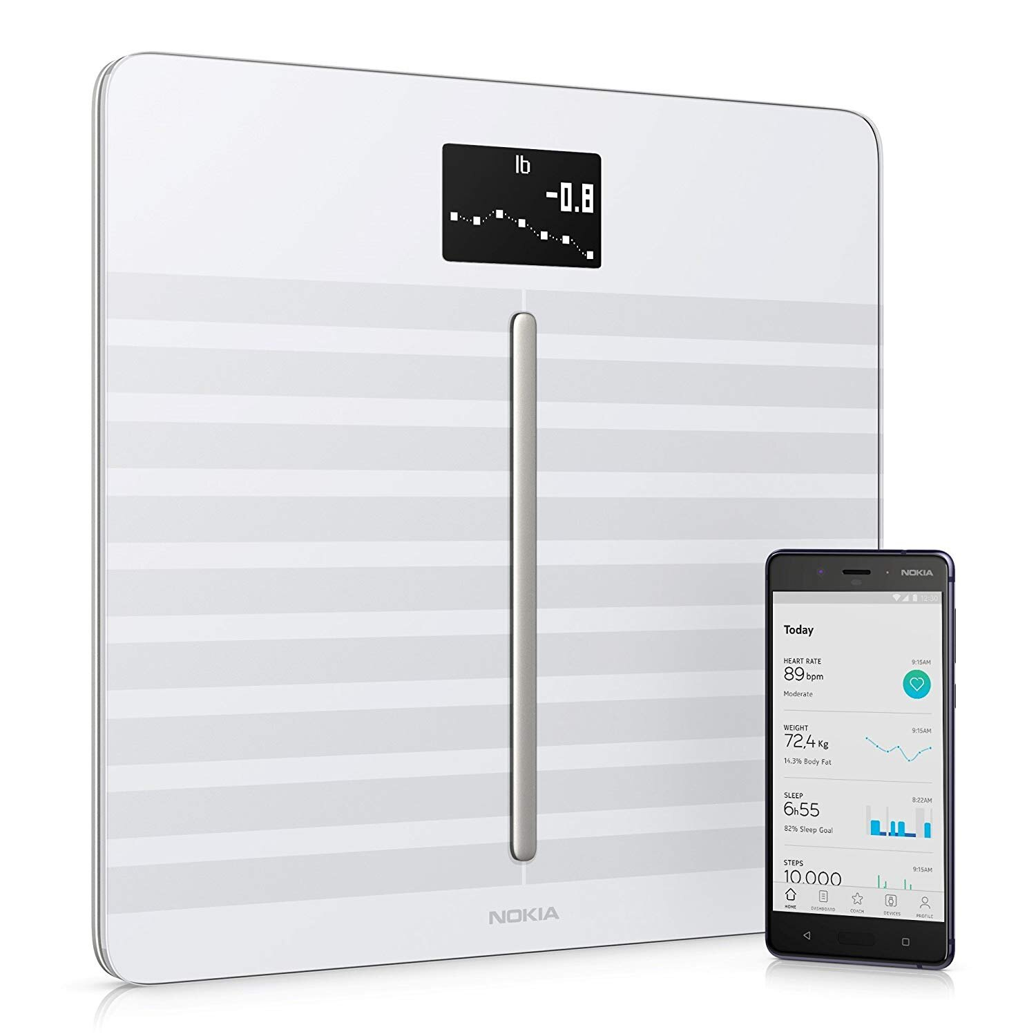 Nokia Body Cardio Wi-Fi Smart Scale with Body Composition and Heart Rate - White 0