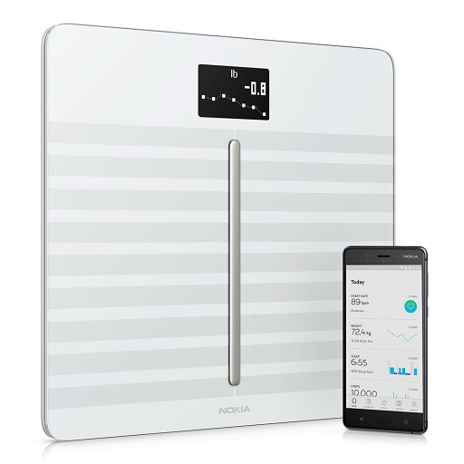 Nokia Body Cardio Wi-Fi Smart Scale with Body Composition and Heart Rate - White