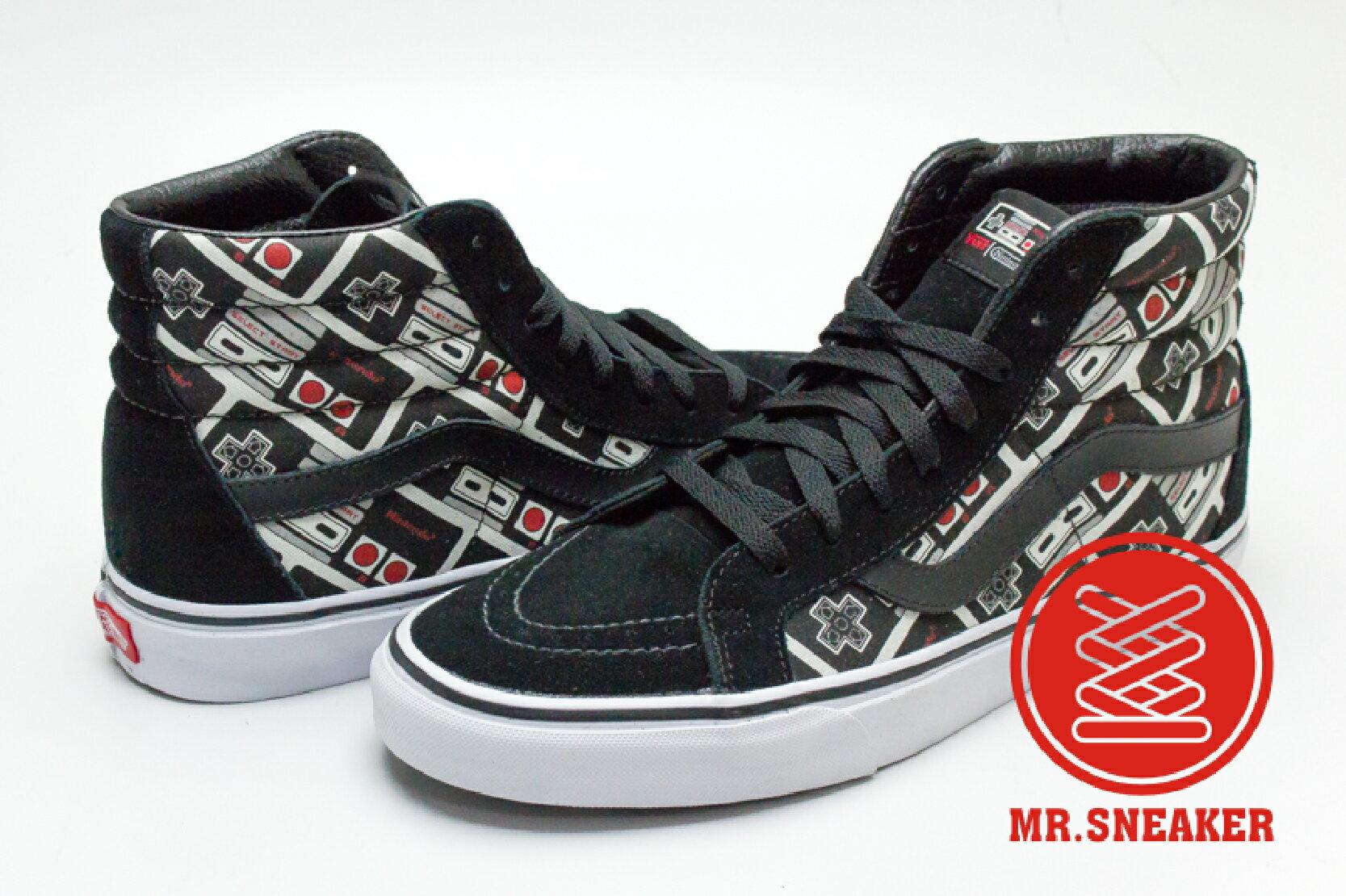 ☆Mr.Sneaker☆ VANS X Nintendo SK8-HI 高筒 紅白機 搖桿 限量 聯名 黑色 男女款