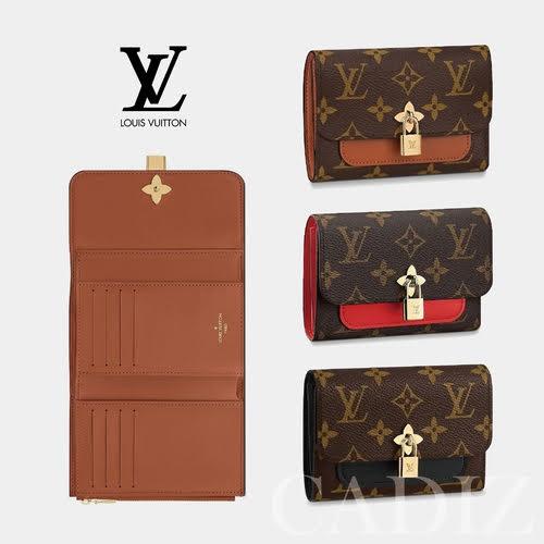 預購 法國正品 Louis Vuitton FLOWER COMPACT WALLET  經典印花紅棕黑牛皮中夾 M62567 - 限時優惠好康折扣