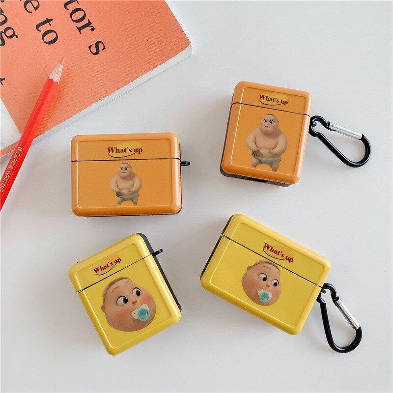 台灣現貨**小胖子 奶嘴嬰兒 方形 防撞 Airpods airpods2 AirPods Pro 耳機保護套