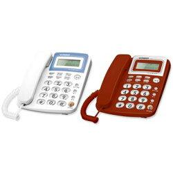 台灣哈理 Kingtel 西陵 來電顯示有線電話 KT-8278  紅/白/灰