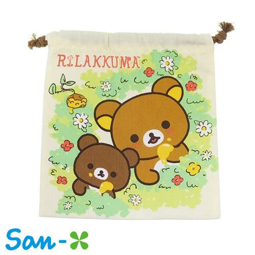 米黃款~  ~San~x 拉拉熊 多 束口袋 收納袋 抽繩束口袋 懶懶熊 Rilakkum