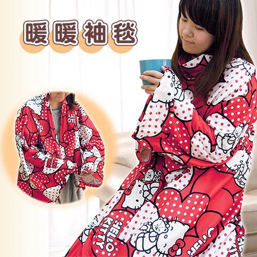 【享夢城堡】精絲絨袖毯-HELLOKITTY40周年紀念版