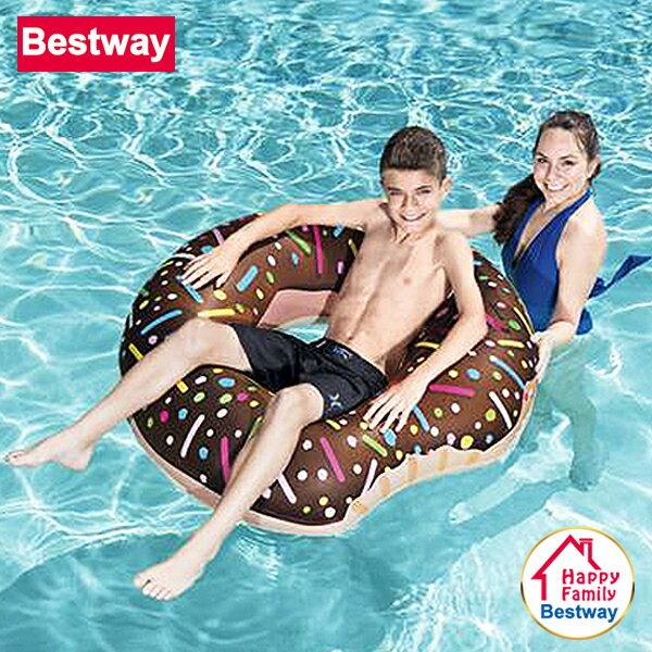 【歡樂家庭零售批發網】歐洲Bestway 俏皮可愛甜甜圈充氣坐騎 / 水上坐騎 / 泳圈 / 浮排 / 戲水玩具 / 泳池派對 / 沙灘海灘-顏色隨機 (36118)