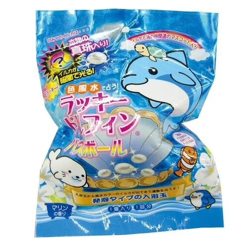 日本NOL 幸運珍珠鯨魚沐浴球(包裝採隨機出貨)★愛兒麗婦幼用品★