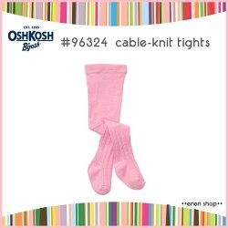 Enen Shöp @OshKosh B'gosh 粉色素面保暖針織褲襪 ∥ 12M-24M **零碼出清**