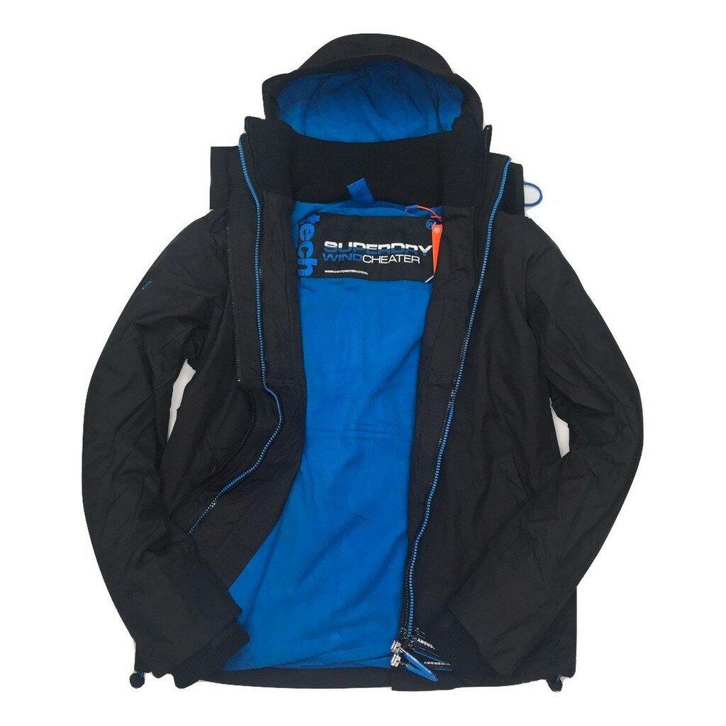 Superdry 極度乾燥外套 男款 內刷毛三拉鍊連帽夾克 防風防潑水 3色 英國正品現貨 5