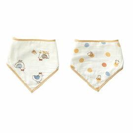 【淘氣寶寶】奇哥快樂小雞竹纖維三角領巾紗布圍兜(2入)TAN723000【奇哥正品】