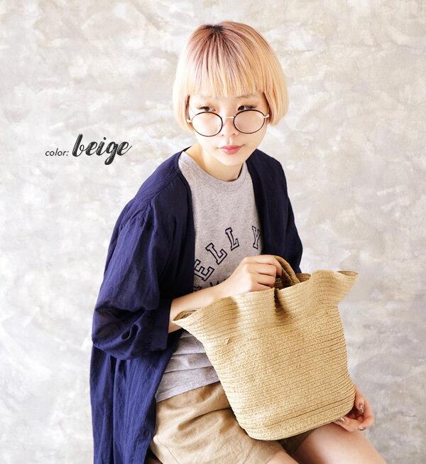 日本e-zakka / 休閒褶邊設計手提包 / 21670-1801122 / 日本必買 代購 / 日本樂天直送(2500) 2