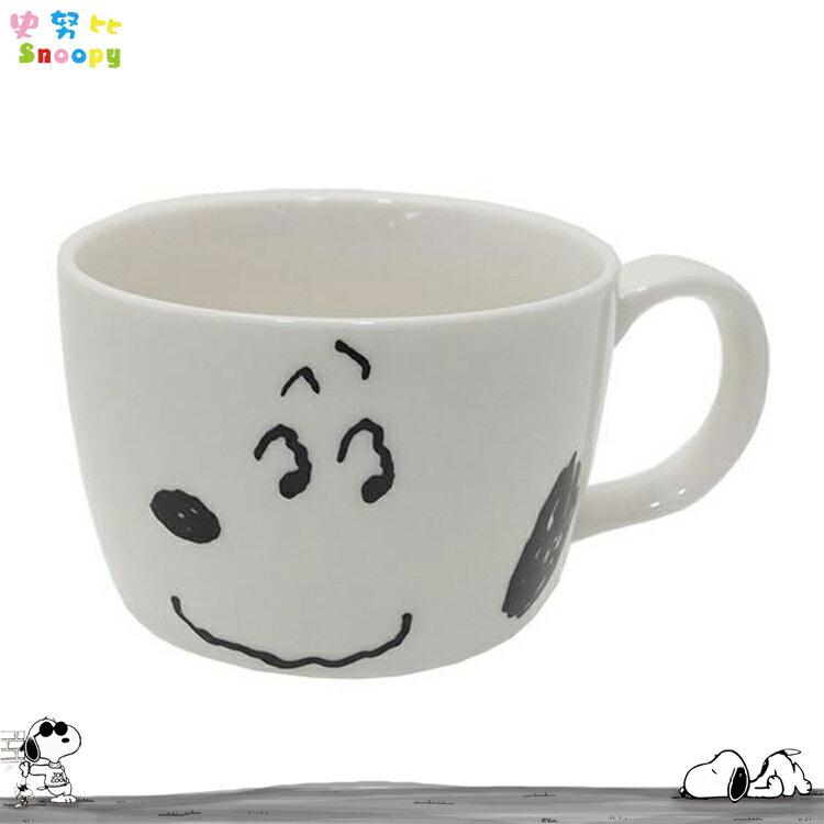 日本製 史努比 史奴比 Snoopy 大臉 單把 陶瓷 湯杯 陶瓷杯 馬克杯 湯碗 日本進口正版 612038