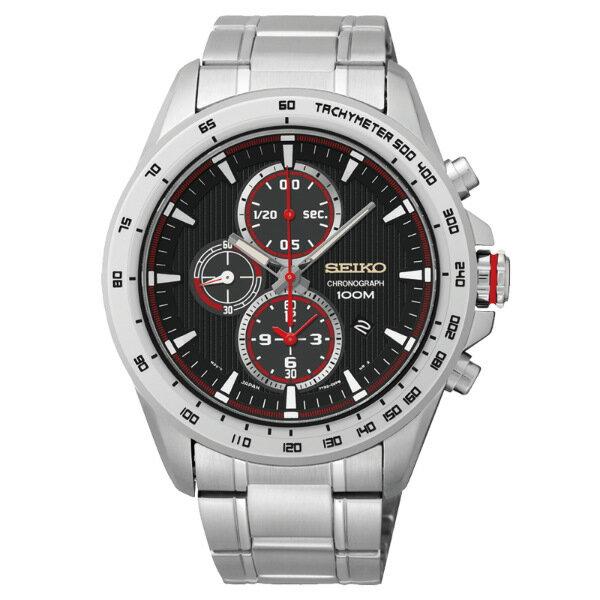 Seiko Spirit 7T92~0SC0R SNDG17P1 街頭 風格計時腕錶  黑