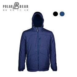【POLAR BEAR】男美國PRIMALOFT科技羽絨連帽保暖外套