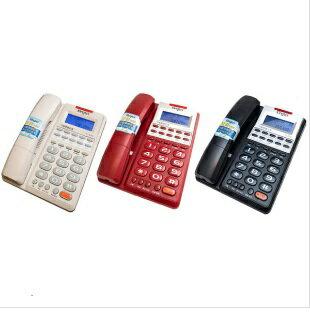 台灣哈理 Kingtel 西陵 來電顯示有線電話 KT-8378 紅/白/黑