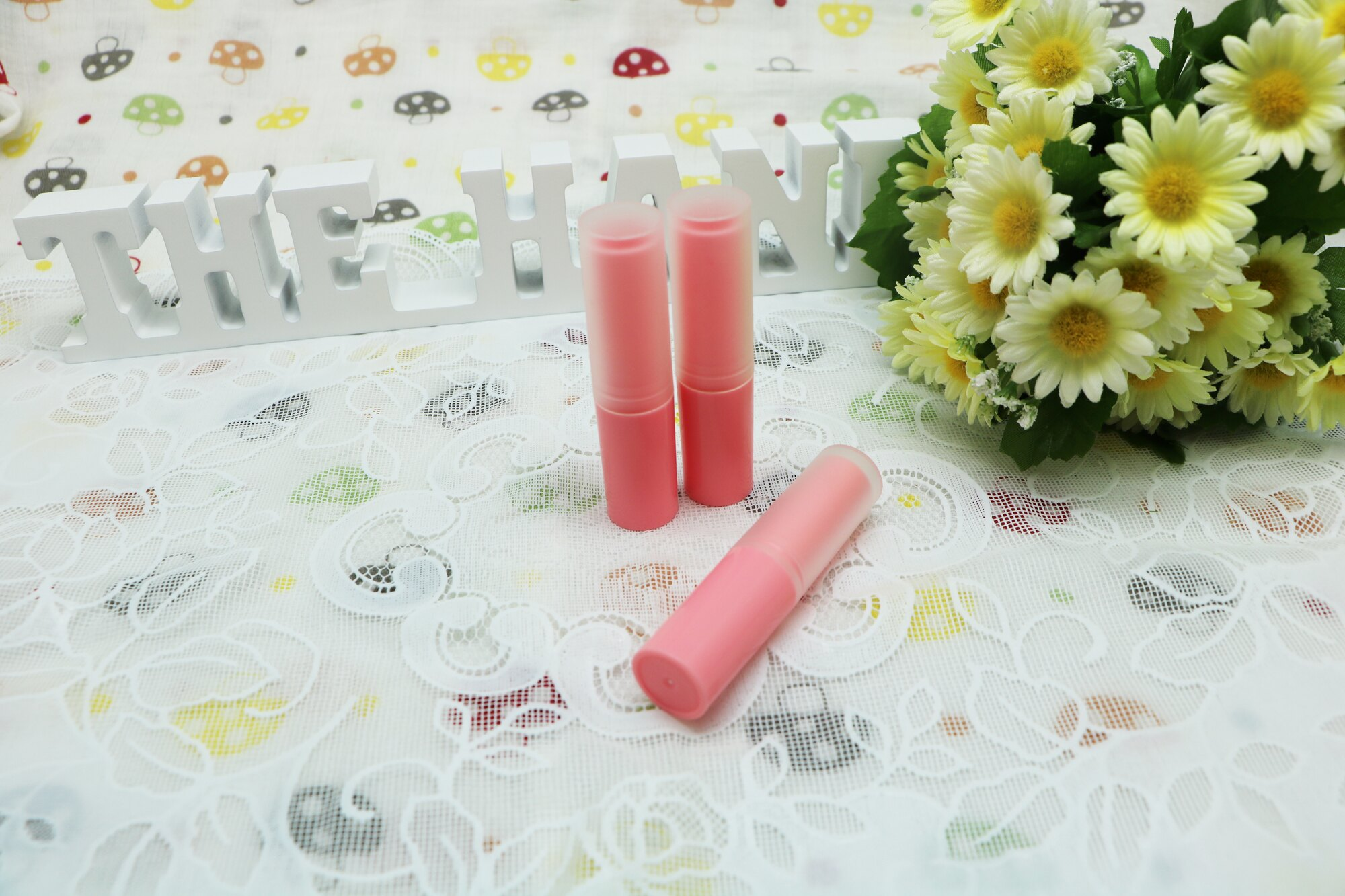 DIY 馬卡龍系粉紅色護唇膏管(3.5g)